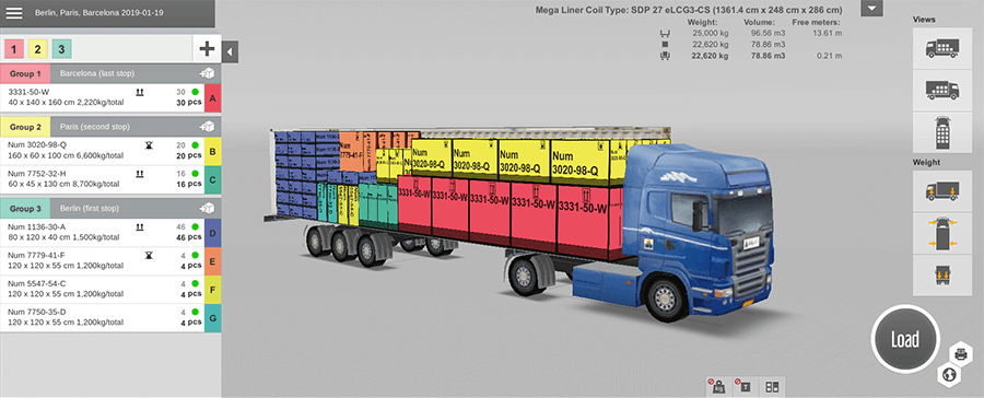 Container and truck load planning software | EasyCargo - Load