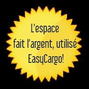 l'espace fait l'argent, utilisé EasyCargo