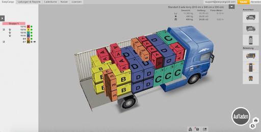 3D-Ladeplan in EasyCargo