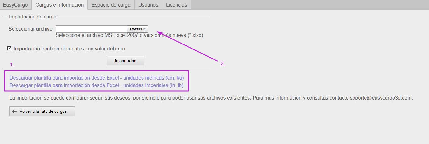 ¿Puedo importar elementos desde un archivo de Excel?
