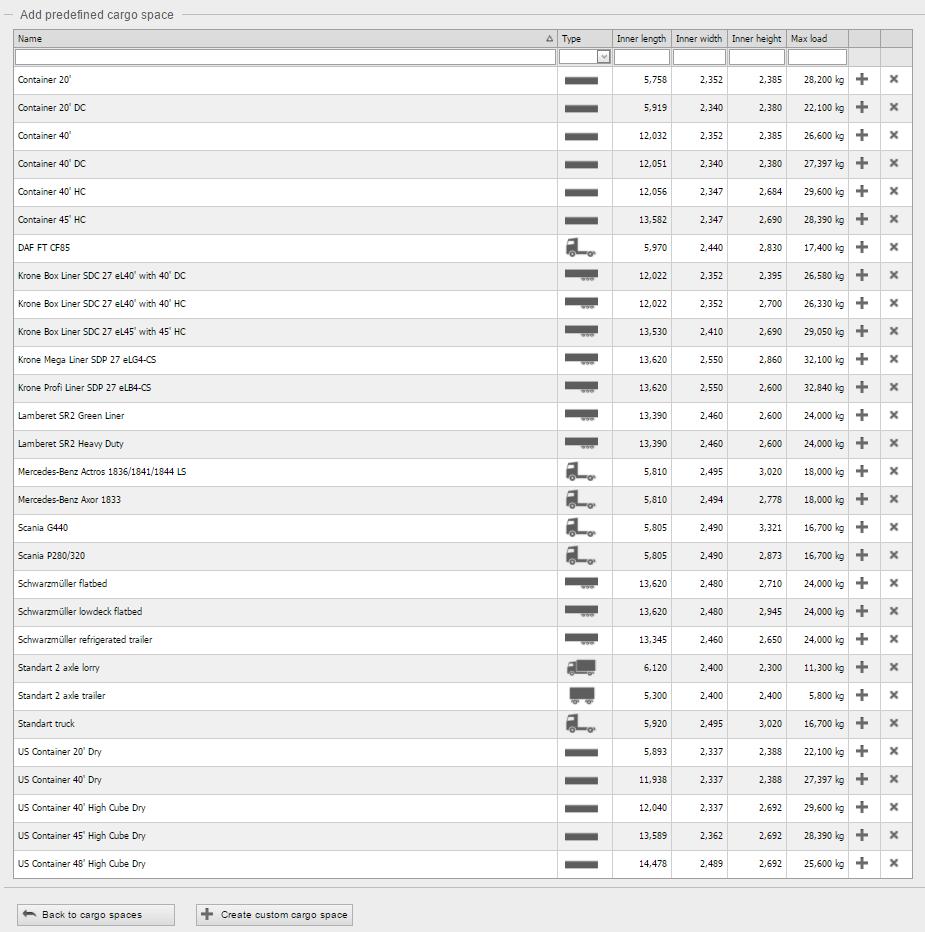 أنواع أماكن الشحن في تطبيق EasyCargo