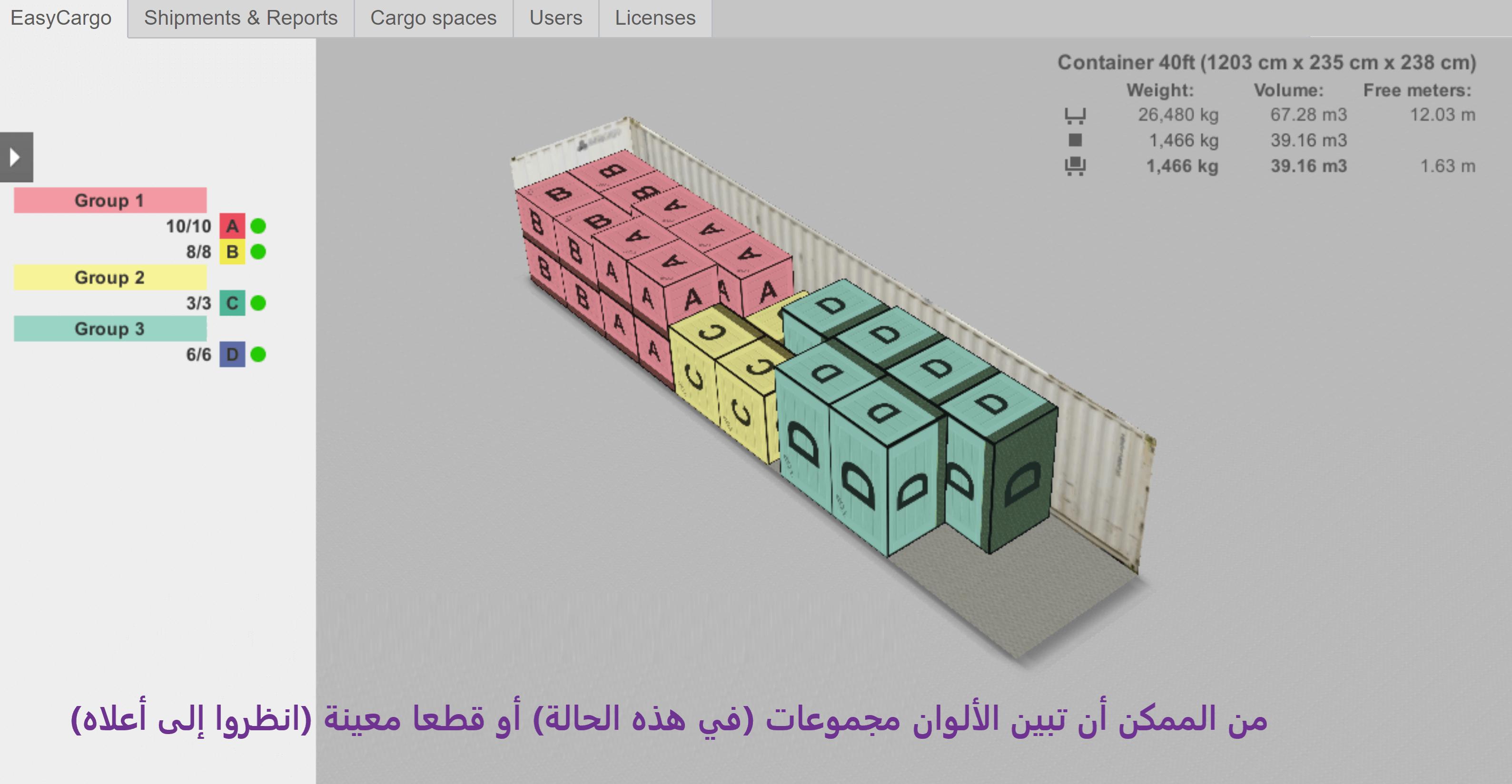 مثل من أمثال مجموعات الأولوية – تبين الألوان مجموعات كاملة