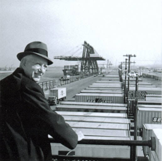 Malcom McLean at Port Newark, 1957