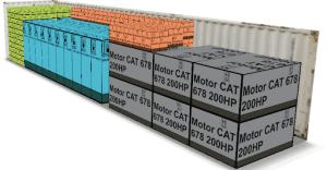 El contenedor de la imagen fue cubicado con EasyCargo y este entrega un plan de carga paso apaso para que los encargados lo sigan y realicen la carga aprovechando al máximo el espacio