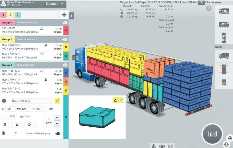 Software de cubicación de carga