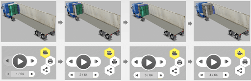 Step-by-step load plan in EasyCargo