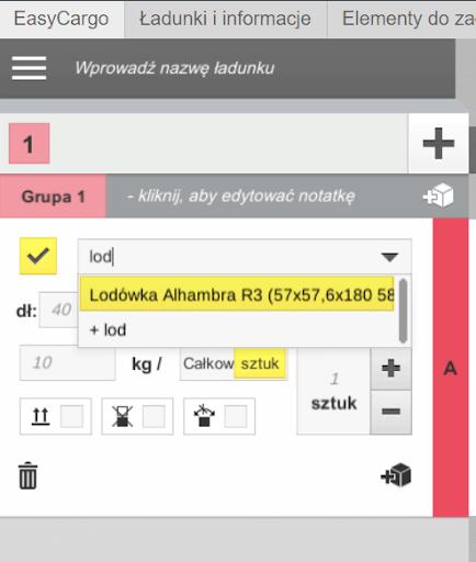 Jak dodać w aplikacji EasyCargo pozycje zbazy danych dogotowego planu załadunku?