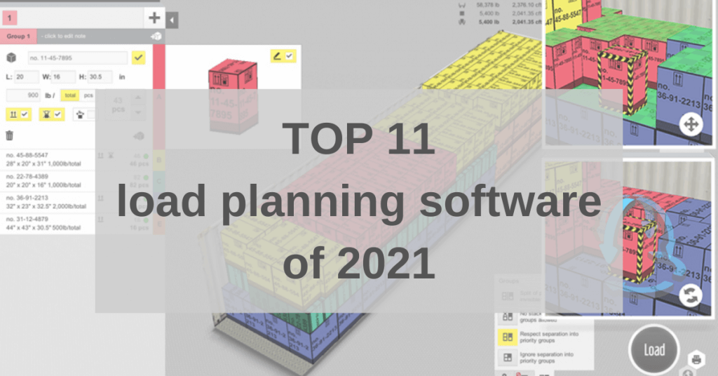 TOP 11 load planning software of 2021