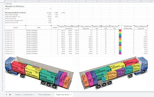 Raport dodruku w formacie Excel